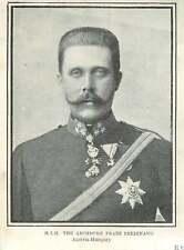 1902 Hih The Archduke Franz Ferdinand
