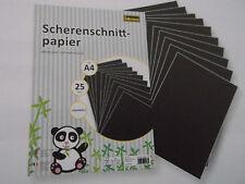 1 Pack mit 25 Blatt Scherenschnitt-Papier ungummiert von Idena® DIN A 4