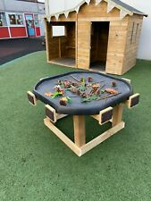 kids wooden outdoor activity area