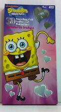 NIB Sponge Bob Squarepants 30 Embossed Foil Valentines & 35 Stickers