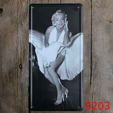 Metal Tin Sign car plate marilyn monroe Bar Pub Vintage Retro Poster Cafe ART
