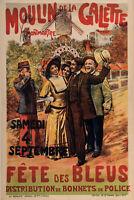 Original Poster - Paul Sescau - Moulin de la Galette - Toulouse-Lautrec -1897