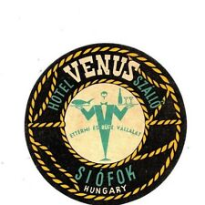 "Hotel Venus Szallo Siofok Hungary 1940's/50's Luggage 3"" Label/Sticker USED"