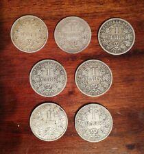 7 Münzen a Reichsmark Deutsches Reich 1873 bis 1914