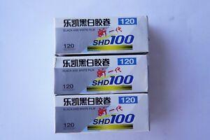 3 Rolls discontinued LUCKY SHD100 120 medium format film -frozen