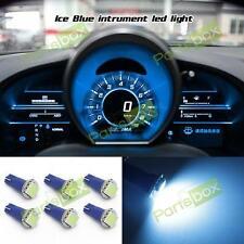 6x Ice Blue High Power Led Bulbs T5 70 73 74 Instrument Dash Light for Toyota