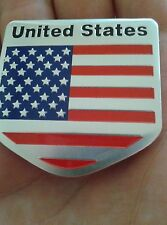 US Flag Logo Metal Car Motorcycle Stickers Tail Emblem
