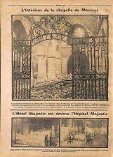 Ruines Chapelle Maurupt-le-Montois Bataille de la Marne/Hôtel Majestic WWI 1914