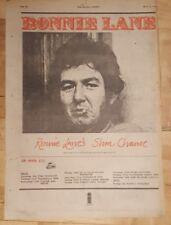 Ronnie Lane Slim chance tour  1975 press advert Full page 28x 39 cm poster