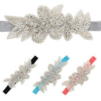 2016New Headbands Rhinestone Flower Hair Accessories For Girls Infant Hair Band