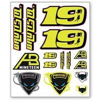 NEW WSBK Alvaro Bautista Large Sticker Set Official World Superbikes Stickers