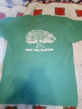 New listing Vintage 80's Save The Plateau T Shirt Save Earth Be Green Single Stitch