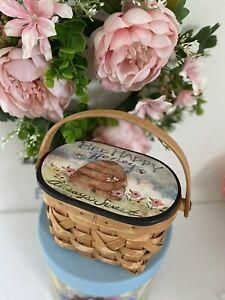 Susan Winget 1997 Be Happy Honey Always Sweet Vintage Small Wicker Basket EUC