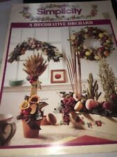 SIMPLICITY Decorative Orchard 3647 Christmas Fall Fruit Harvest hobby crafts