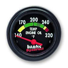 DODGE RAM 5.9L DIESEL BANKS-POWER DYNAFACT ENGINE OIL TEMP GAUGE..