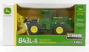 NEW! 1:50 ERTL *JOHN DEERE* 843L-II Wheeled Feller Buncher WFB *PRESTIGE* NIB