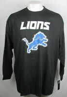 Detroit Lions Men's Majestic Big & Tall Long Sleeve Reflective Tee NFL XLT-6XL