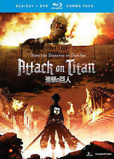 Attack on Titan: Part 1 (Blu-ray/DVD, 2014 4-Disc Set Limited Edition) FREE SHIP