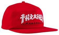 "THRASHER Magazine ""Godzilla"" Japanese Logo Red / White Embroidered Snapback Hat"