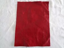 Brand New RED 40x22cm,1 Piece GENUINE LEATHER - SCRAPS, OFF CUTS for CRAFTS
