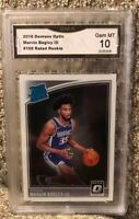 2018 Donruss Optic Marvin Bagley III Rated Rookie Gem Mint 10