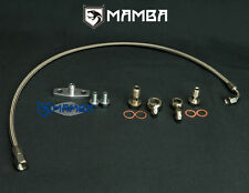 MAMBA Turbo Oil Feed Line For MAZDA RX-7 RX7 13B FC FD HT18S-2S or Garrett T3 T4