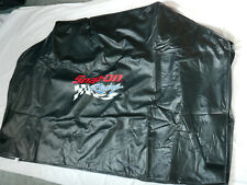 """Snap On Tool Black Rectangular Gas Grill Cover with """"Snap On Racing"""" on front"""