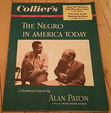 COLLIERS MAGAZINE OCTOBER 15 1954 NEGRO AMERICAN TODAY ALAN PATON TED WILLIAMS