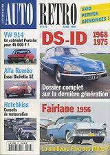 AUTO RETRO n°176 AVRIL 1995 DS-ID 1968-1975 VW914 ALFA GIULETTA SZ HOTCHKISS