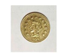 1858 california coin 1/2