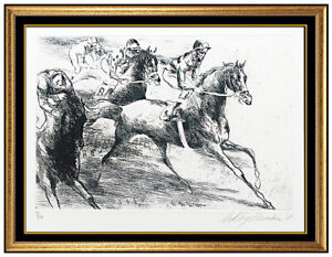 LeRoy Neiman Original Horse Racing Etching Daily Double Hand Signed Sports Art