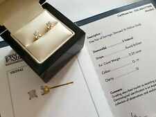 Yellow gold 9ct G H I3 Certified Round Diamond Women Stud Earrings free postage