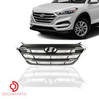 Fits Hyundai Tucson 2016 2017 2018 Front Upper Grille Grill Chrome Factory Style