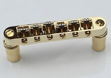 Roller Saddle Tune-O-Matic Bridge GOLD for Import Epiphone Les Paul SG ES Dot
