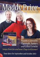 MADDY PRIOR Theatre Flyer 2013 Tour Handbill