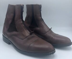 Milo Felline Men's Paddock Boots Dark Brown Euro size 44 US size 11 OnTyte