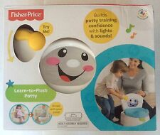 NEW FISHER PRICE LEARN TO FLUSH POTTY TRAINING BUILDS CONFIDENCE LIGHTS & SOUNDS