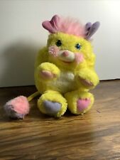 "Vintage Potato Chip Popples Plush 8"" Stuffed Animal Yellow 1985 Or 1986"