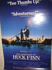 Adv of HUCK FINN original video promo poster - 1993 Elijah Wood - rolled