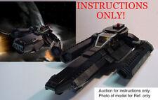 Custom Battlestar Galactica Stealth Viper Blackbird (Lego Instructions Only!)