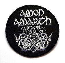 "AMON AMARTH PATCH SEW OR IRON ON ROCK METAL LOGO BAND SIZE 3x3"" FREE SHIPPING"