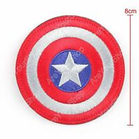 High Quality Avengers Captain America Shield Logo Embroidered Hook Loop Patch B1