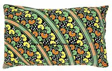 Flower of life Print Pillow Sham Indian Cotton Black Pillow Home Decor Bed Throw