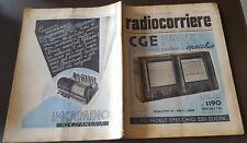 RADIOCORRIERE anno 15 n. 13 1939 - RADIO CGE - PALMOLIVE - SILVIO D'AMICO  6/17