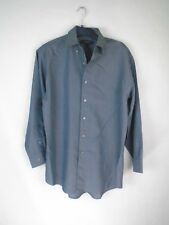 Pierre Cardin Mens Medium Casual Button Down Shirt Grey #94C6