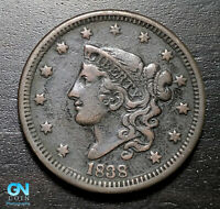 1838 Coronet Head Large Cent   --  MAKE US AN OFFER!  #B5627
