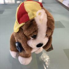 """Sad Sam Honey Puppy Dog 6 - 7"""" Plush Dog Birthday Baseball Hat New"""