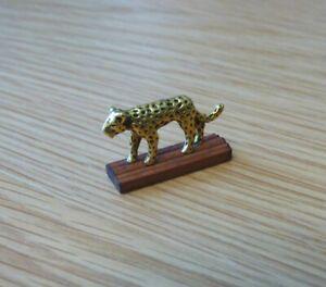 1/12 dolls house Miniature handmade Leopard ornament desk Office Study LGW