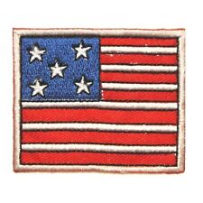 ID 1049 Cartoon American Flag Patch Patriotic Craft Embroidered Iron On Applique