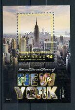 Mayreau Gren St Vincent 2016 MNH Iconic Sites New York NY2016 1v S/S Stamps
